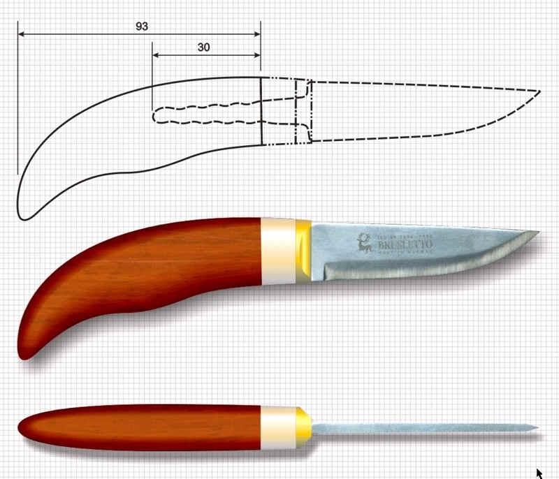 Как сделать пятку для ножа